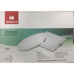 HAVELLS LED DOWN LIGHT SLIM REC. ROUND WHITE 6WATTS