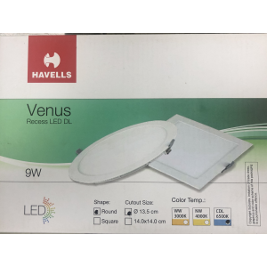 HAVELLS LED DOWN LIGHT SLIM REC. ROUND WHITE 9WATTS